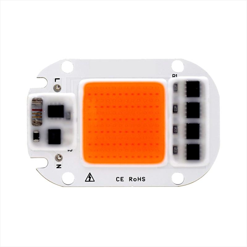 10PCS LED COB Chip For Grow Light Full Spectrum Smart IC 50W 30W 20W Input AC 220V LED Bead For DIY Plant Seedling Grow Lamp