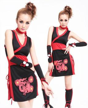 Girls hot kimono Japanese style Ladies Sexy ninja dress cool performance dress Cosplay Costume free Size for costume party girl