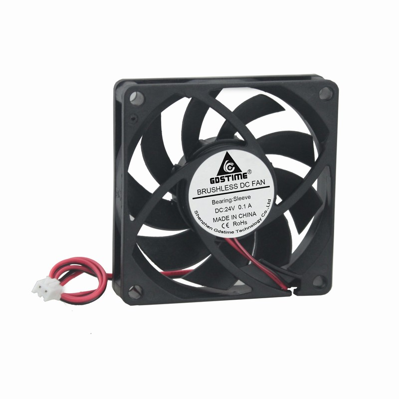 5 pcs/lot New PC Case Fan 70mm x 70mm x 15mm 24V 2 Pin DC Brushless Cooling Cooler Fan  computer cooling