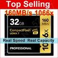 Marca 1066x Profesional Tarjeta de Memoria de 32 GB 64 GB 128 GB de Alta Velocidad de CF tarjeta Compact Flash Para DSLR DV de La Cámara Full HD 3D vídeo