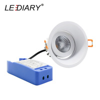 LEDIARY Recessed LED Dimmable Downlights 220V 5W 10W 15W 90mm Cut Hole Round Angle Adjustable Ceiling Bedroom Lighting Fixtures