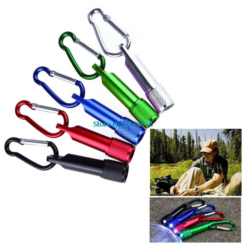 Portable Mini Flashlight LED Camping Keychain Torch Hook Handy Light Lamps MY16_35