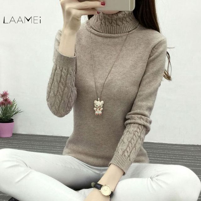 78383b3c5e Laamei Thick Warm Women Turtleneck 2018 Winter Women Sweaters And Pullovers  Knit Long Sleeve Cashmere Sweater .