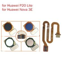 Conector de sensor de impressão digital, para huawei nova 3e/p20 lite, botão de início, id de toque, cabo flexível, reparo ensaio qc peças