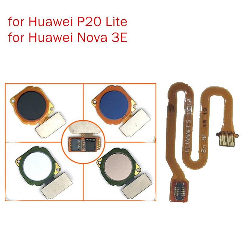for Huawei Nova 3E/ P20 Lite Fingerprint Sensor Scanner Connector Home Button Key Touch ID Flex Cable Repair Spare Parts Test QC-in Mobile Phone Flex Cables from Cellphones & Telecommunications