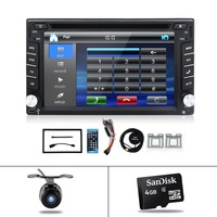 Autoradio 2 Din Universal car radio 6.2'' inch LCD Touch Screen Car Radio Player Bluetooth Car Audio Support Rear View Camera