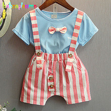 2Piece/2-6Years/Summer Children Clothes Blue T-shirt+Stripe Shorts Casual Baby Boys Tracksuits Boutique Kids Clothing Set BC1214