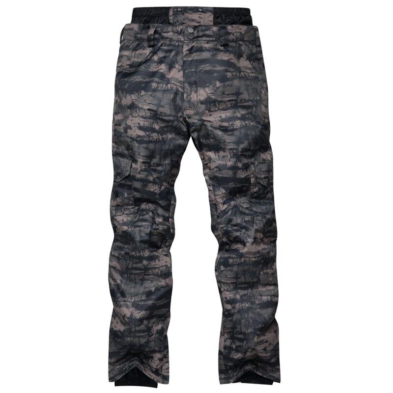 Nouveauté pantalon de Ski pour hommes en Nylon et Spandex remplissage de tissu respectueux de l'environnement PP coton Camouflage snowboard taille pantalon S-XL