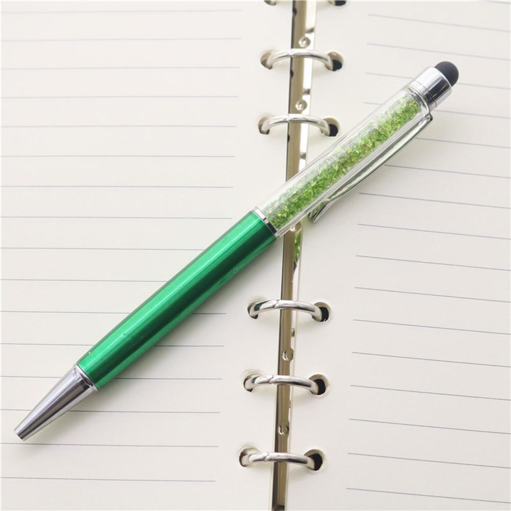 BGCS-5PCS Random Colorful Crystal Pen Diamond Ballpoint Pens Fashion Creative Stylus Touch Pen Novelty Gift Office Material Sc