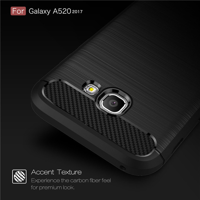 Whyes For Samsung Galaxy A5 2017 Case A520 Carbon Fiber Soft TPU Heavy ShockProof Silicone Case For Samsung A5 2017 A520 Cover 2