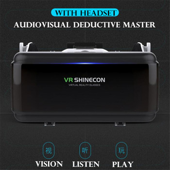 Original VR Virtual Reality 3D Glasses Box Stereo VR Google Cardboard Headset Helmet for IOS Android Smartphone,Bluetooth Rocker 2