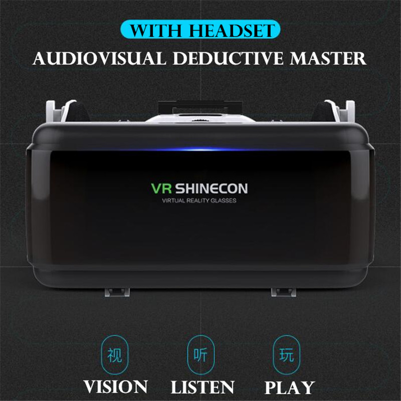 Original VR Virtual Reality 3D Glasses Box Stereo VR Google Cardboard Headset Helmet for IOS Android Smartphone,Bluetooth Rocker 2