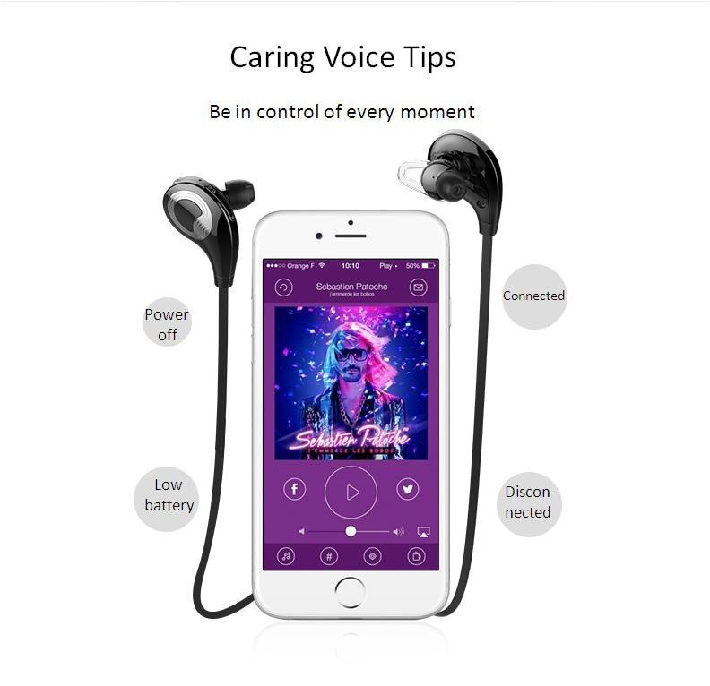 Zealot H5 Sports Earphones Stereo Bluetooth 2015 Headset CSR4.0 Rechargeable Battery Wireless audifonos headphones hifi with Mic
