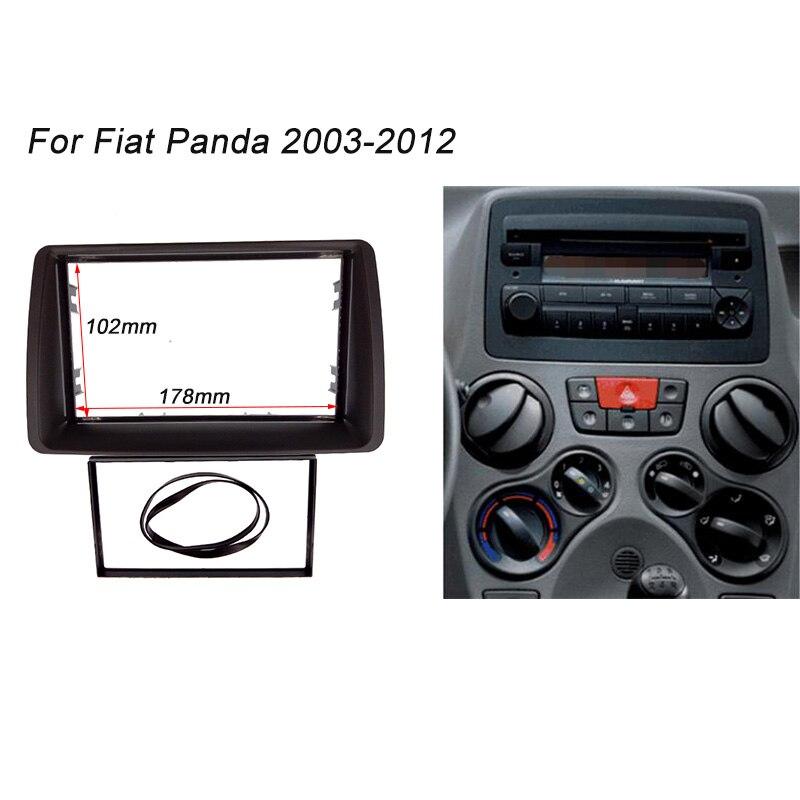 double din fascia for fiat panda 2003 2012 radio stereo. Black Bedroom Furniture Sets. Home Design Ideas