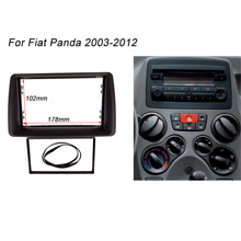Double Din Fascia For FIAT Panda 2003- 2012 Radio Stereo Panel Dash Mount Installation Trim Kit Frame Plate Bezel
