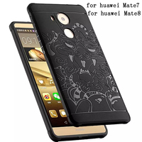3D Carved Dragon Protector Shell Cover Fundas For Huawei Mate 8 7 Soft Silicon Rubber Phone