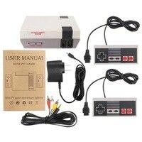 Mini Máquina de jogos De NES Retro Console Do Jogo da TEVÊ de 500 Controladores de Jogos Clássicos Embutido + 2 Alça