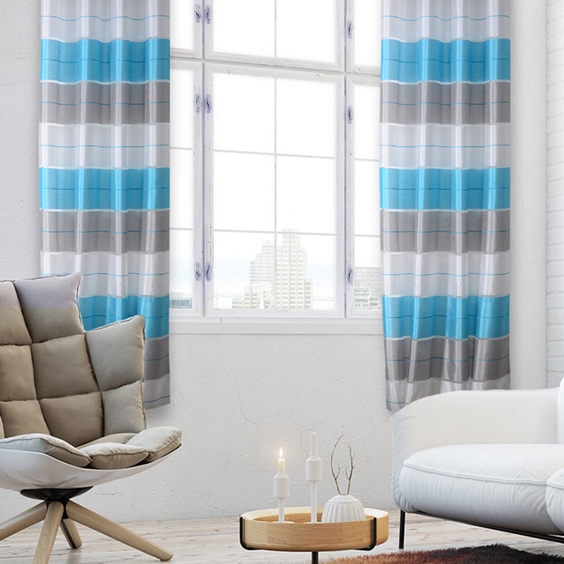 Flying Curtains For Window Living Room The Bedroom Striped Nordic Modern Curtain Decor Customized Made Natural Polyester Drapes