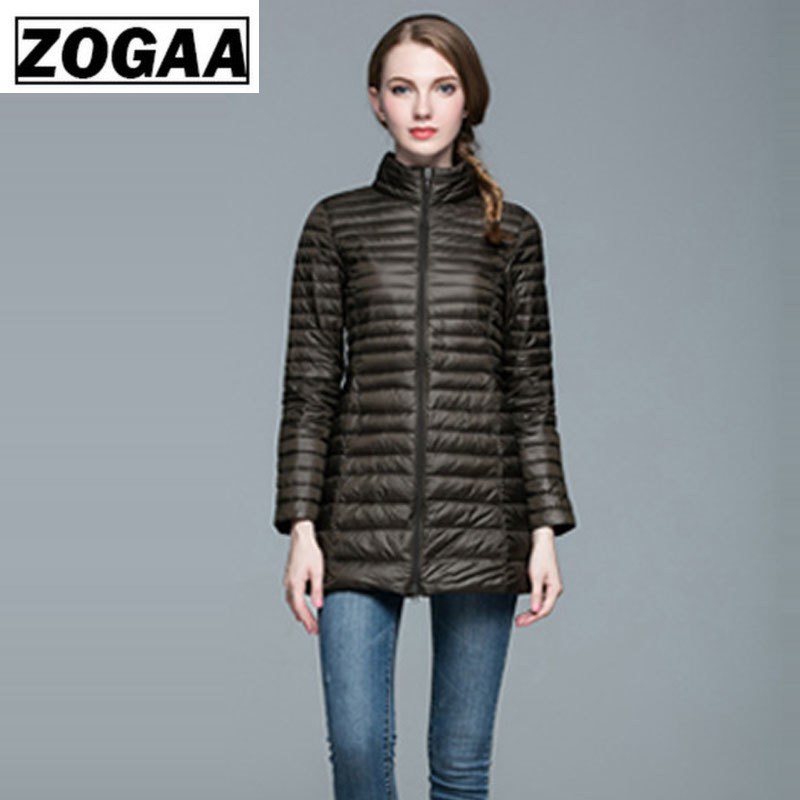 ZOGAA Plus Size 4XL 8 Colors Women Casual Ultralight Down Jacket with 90 Down 10 Feather Casual Women Winter Long Coat Jacket in Down Coats from Women 39 s Clothing