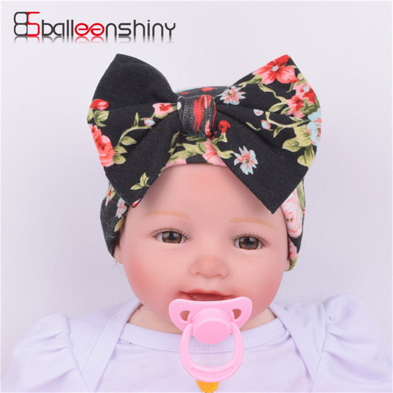 BalleenShiny Hat Newborn Baby Knit Beanie With Bow Toddler Cap Kids Cotton Ears Hat Photograph Prop Hat Shower Gift Stretchy