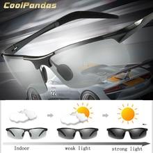 Coolpandas Merk Designer Aluminium Magnesium Fotochrome Gepolariseerde Zonnebril Mannen Rijden Dag En Nachtzicht Zonnebril Mannen