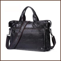 Cheap men genuine leather Crossbody bags briefcase