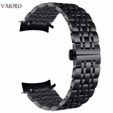 V-moro Newest Fashion Watch Straps For Samsung Gear S3 Classic Strap Metal Stainless Steel Band Sports Smart Bands