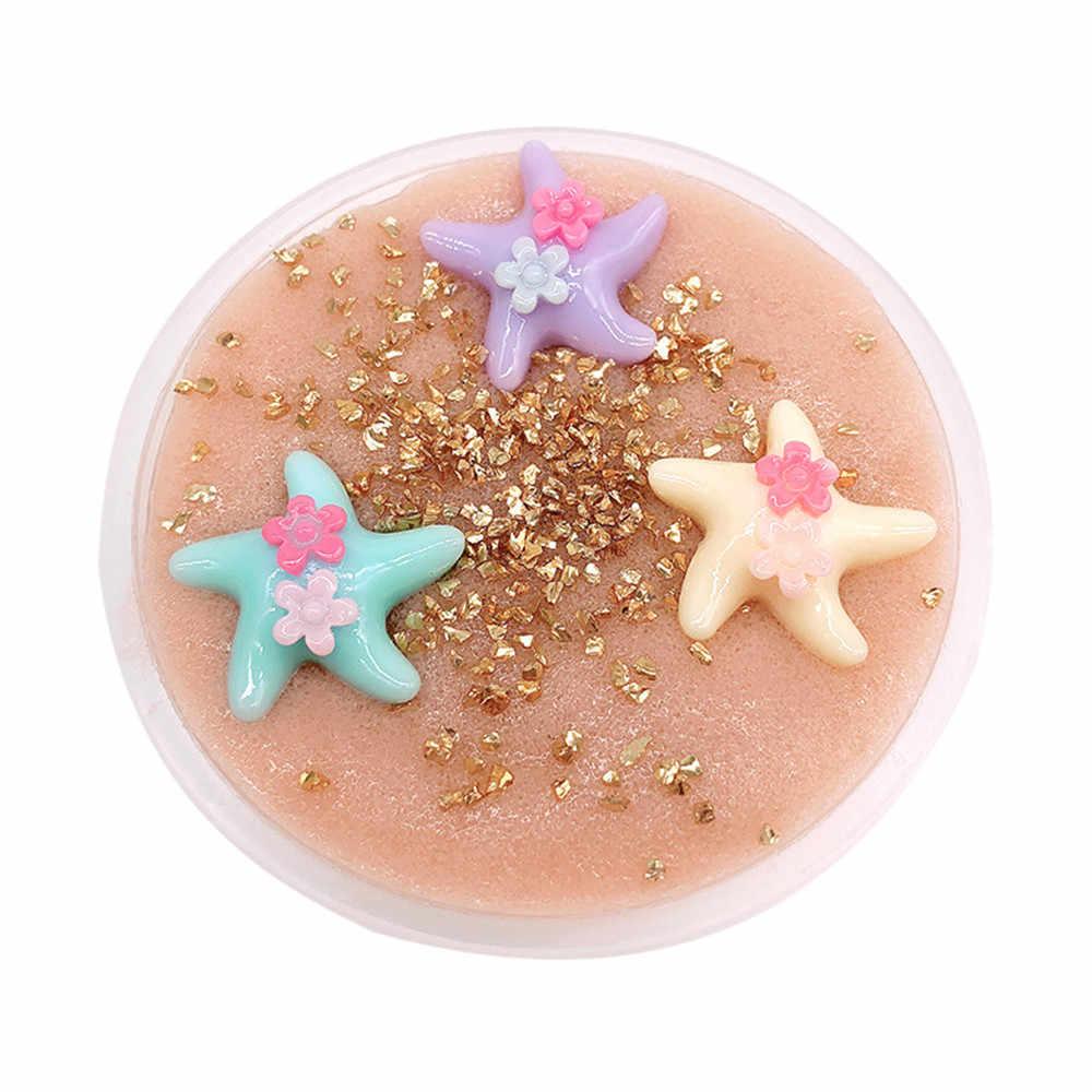 Bel Colore Starfish Beach Slime Squishy Antistress Stucco Argilla Profumato Lo Stress Bambini Argilla Fai da Te Trasparente Melma Giocattoli Dropshipping