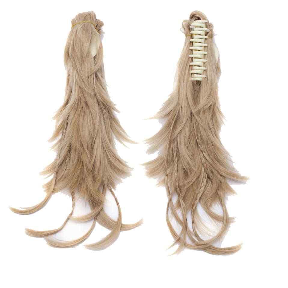 "S-noilite 12 ""синтетические волосы парик шнурок заколка для хвоста в наращивание волос Плетение волос женский Коготь Конский хвост волос булочка"