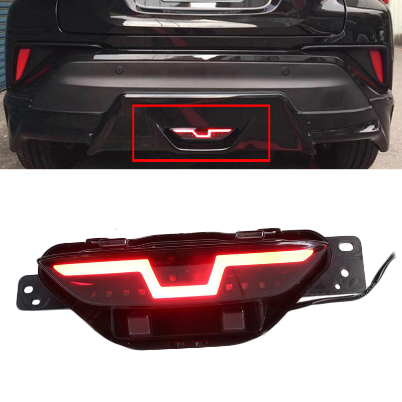 цена на Auto Tail Fog Lights Rear Bumper Light Driving Lamp Brake Light Reverse Light Warning Light For Toyota CHR 2017 2018