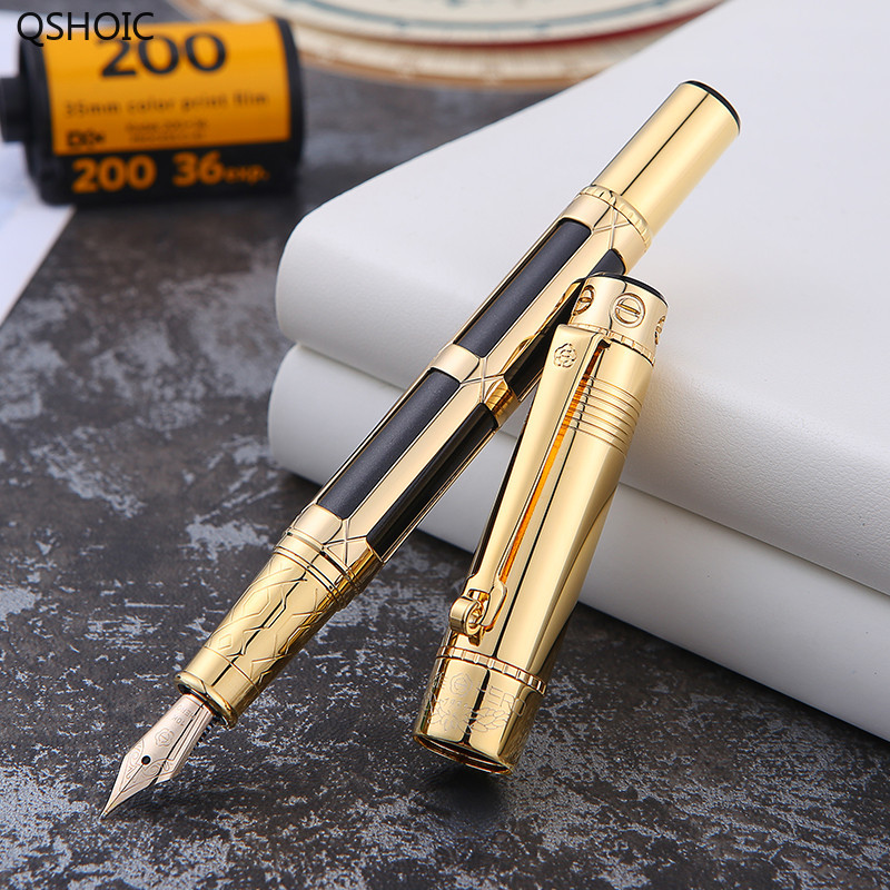Перьевая ручка 10 K золотая ручка с подарочной коробкой официальный аутентичный взрослый бизнес High end письменная работа в офисе поставка кал