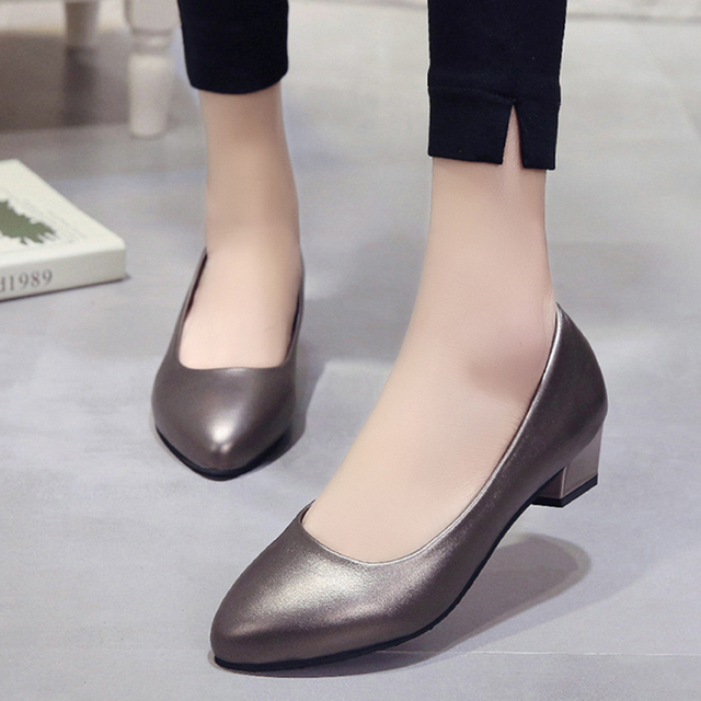 8bd78380460a2 US $13.44 32% OFF|Spring Autumn Women Shoes Low Heels Dress Shoes Woman  Basice Pumps Black Boat Shoes Slip on Ladies Shoes zapatos mujer 6184-in ...