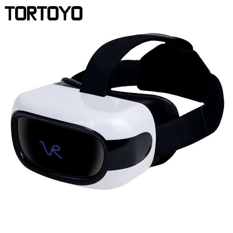 All In One VR Helmet 3D Glasses Virtual Reality Private Cinema Android 4.4 5 720P IPS TFT Display Screen WIFI Bluetooth 1G+16G caraok v12 android 4 4 all in one 3d vr virtual reality glasses allwinner h8 quad core 2g 16g support wifi bluetooth otg f19631