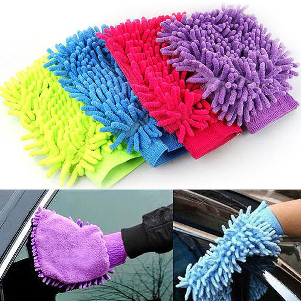 Supper Soft Absorbent Water Mitt Microfiber Dust Cleaning Washing Glove Brush Car Cleaning Glove Motorcycle Home Brush