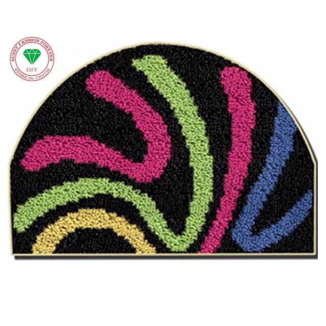Mats Latch Hook Rug Kits Sch Threads Carpet Embroidery Cushion Carpets Sets Thread