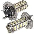 Car Lighting 2 Car VEHICLE H7 3528 SMD 68 LED Light Bulb Lamp 12V Car Auto LED Light