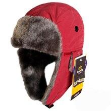 2016 Super Warm Bomber Hats Ushanka Russian Leifeng Hat Faux Fur Winter Snow Ski Hats Sports Outdoor Windproof Flaps Cap Unisex