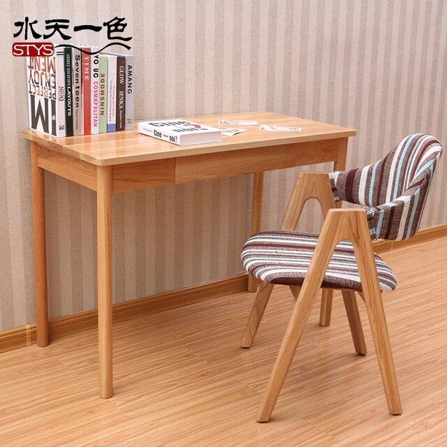 Nordic 1.2 M Japanese Style Solid Wood White Oak Computer Desk Desk Home  Office Desk