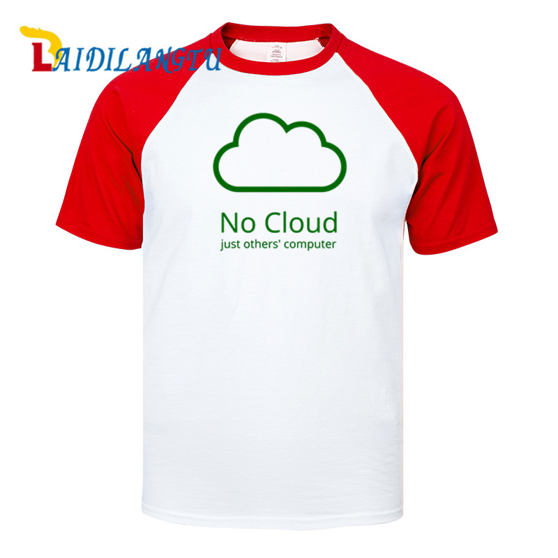 Novelty Computer Cloud T-shirts Creative Man Cotton Raglan Sleeve Summer Style Tee shirts New Casual Funny Geeks T shirts Boys