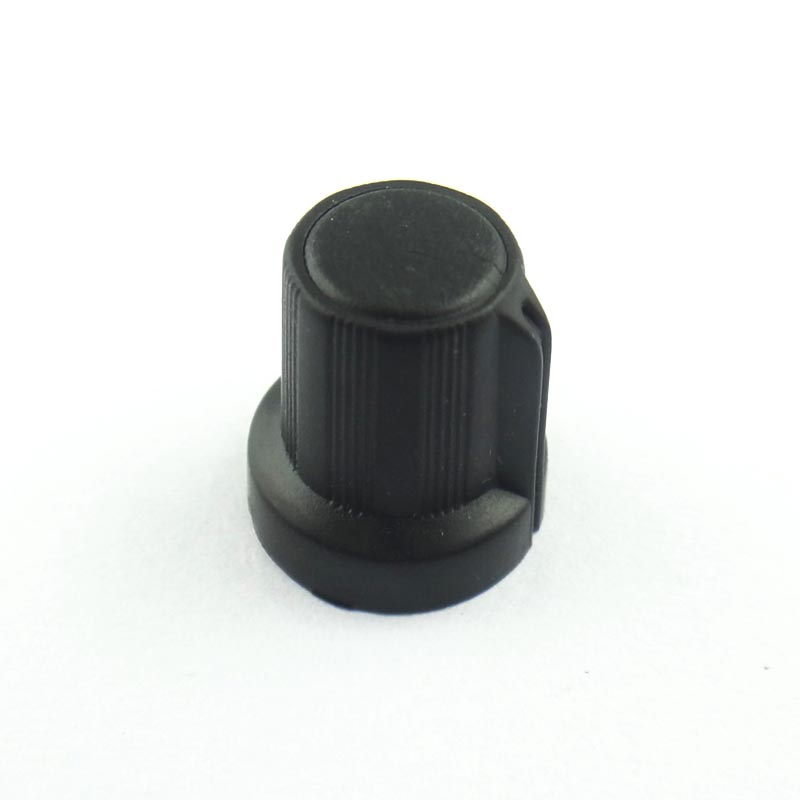 Newest !! Hot Sale 50 Pcs 6mm Shaft Hole Dia Plastic Threaded Knurled Potentiometer Knobs Caps