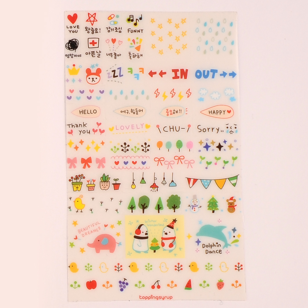Scrapbook paper and stickers - Aliexpress Com Buy New Cute Lovely 6 Sheet Paper Stickers For Diary Scrapbook Book Wall Decor For Decoration Cartoon Stickers From Reliable Stickers For