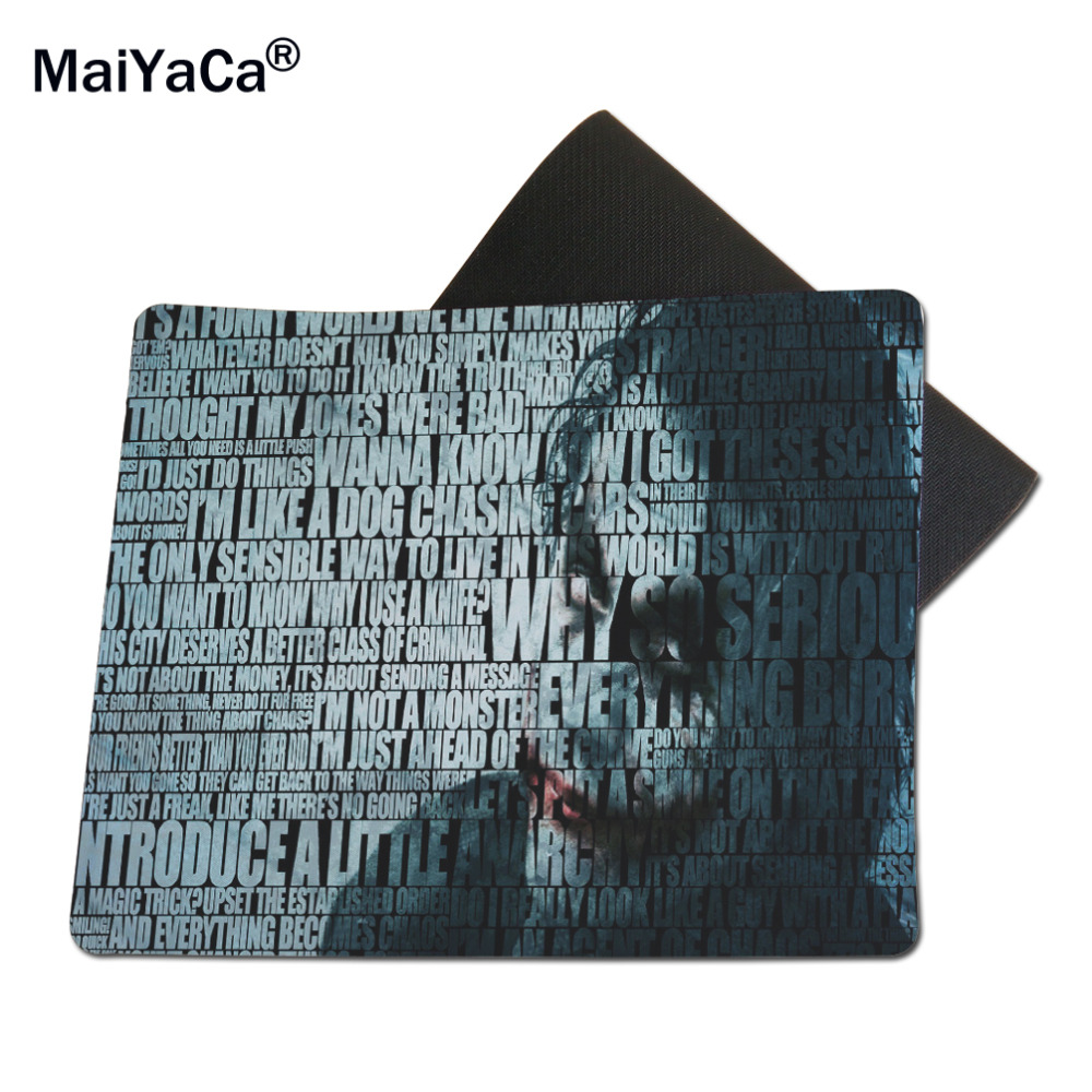 MaiYaCa Joker Word Mouse Mats Computer Laptop Notbook 18*22cm and 25*29cm Lock and No Lock Mouse Pad