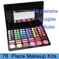 Free shipping! Professional 78 Color Make Up Set  Eyeshadow & Lip Gloss & Blush Palette 78-03#