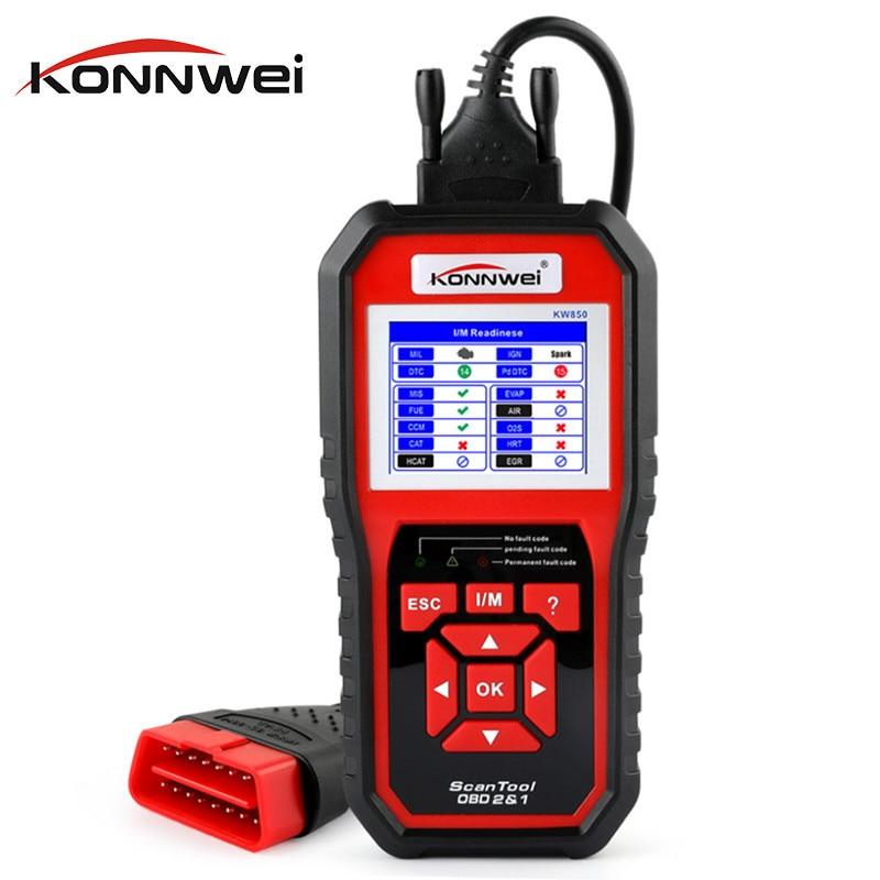 Konnwei KW850 ODB2 Scanner Full Function Car Auto Diagnostic Tool Universal OBD Engine Code Reader PK AD310 NT301 Update Free