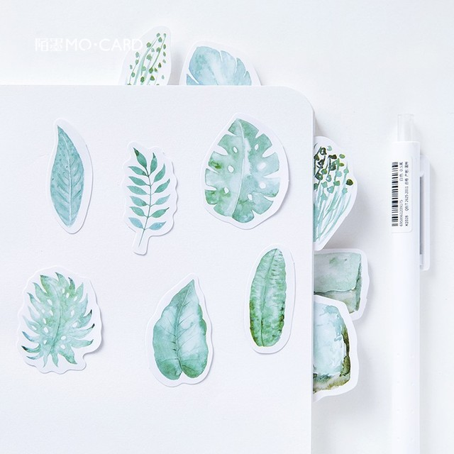 40pcs/set Mint Diary Memo Pad Diary Stickers Pack Posted It Kawaii Planner Scrapbooking Stationery Escolar School Supplies
