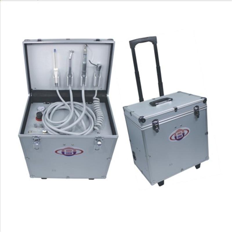 Nuovo Modello di Alta Qualità Unità Dentale Portatile con Three Way Siringa, Senza Olio del Compressore D'aria