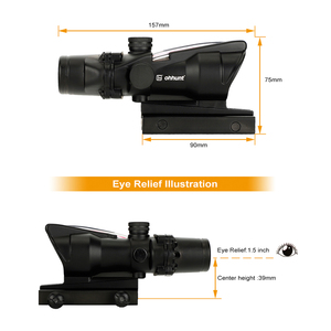 Image 3 - ohhunt Hunting 4X32 Real Fiber Scope BDC Triangle Horseshoe Reticle Tactical Optical Sights for cal .223 .308 Print LOGO