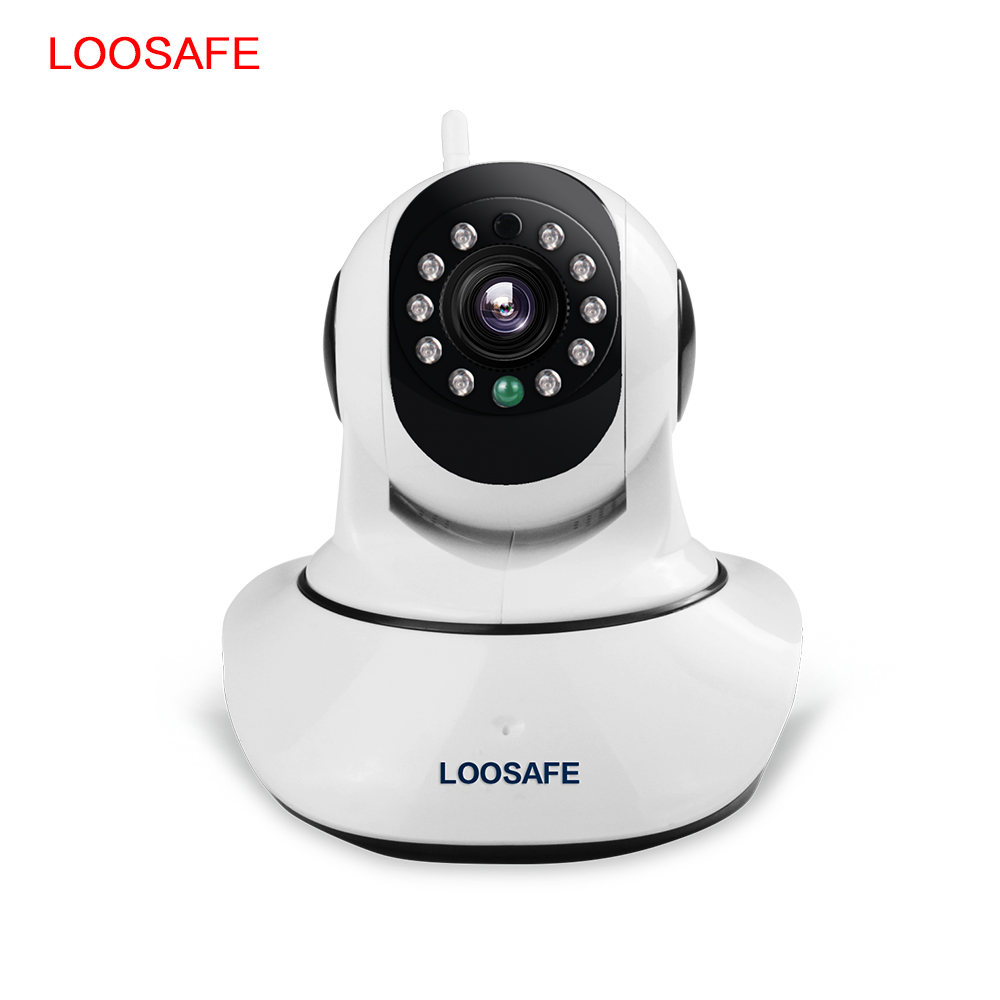 LOOSAFE Home Security IP Camera 720P HD Wireless Mini Wifi IP Camera Video Surveillance Camera WIFI Baby Monitor Two Way Audio 720p hd hi3518c ov9712 indoor mini security video ip camera with free cms software for home baby security