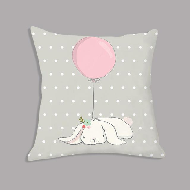 Cute Pink Rabbit Bunny Cartoon Pillowcase / Cushion case