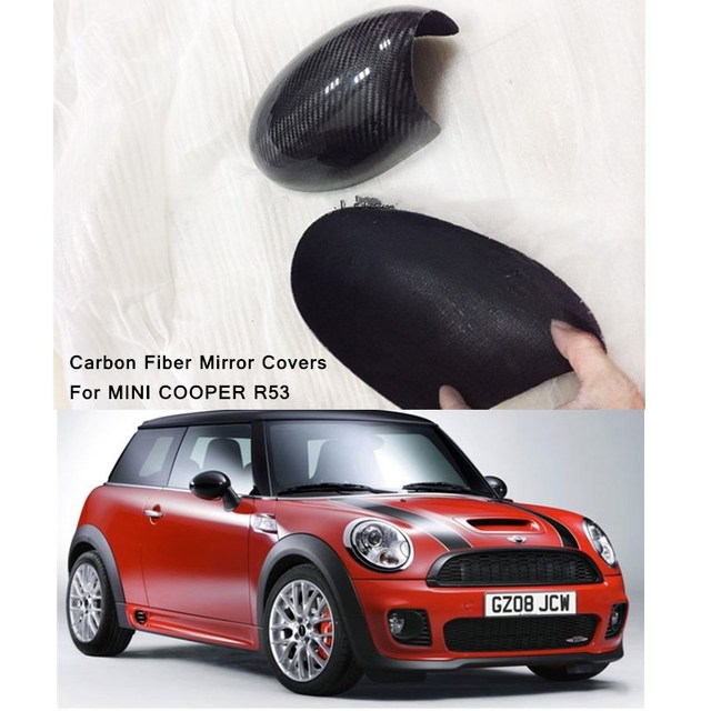 2pcs Lot Carbon Fiber Mirror Covers For Mini Cooper S R53 Car Accessories Other